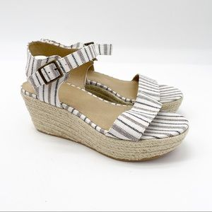 BP Striped Wedge Sandals Size 8.5